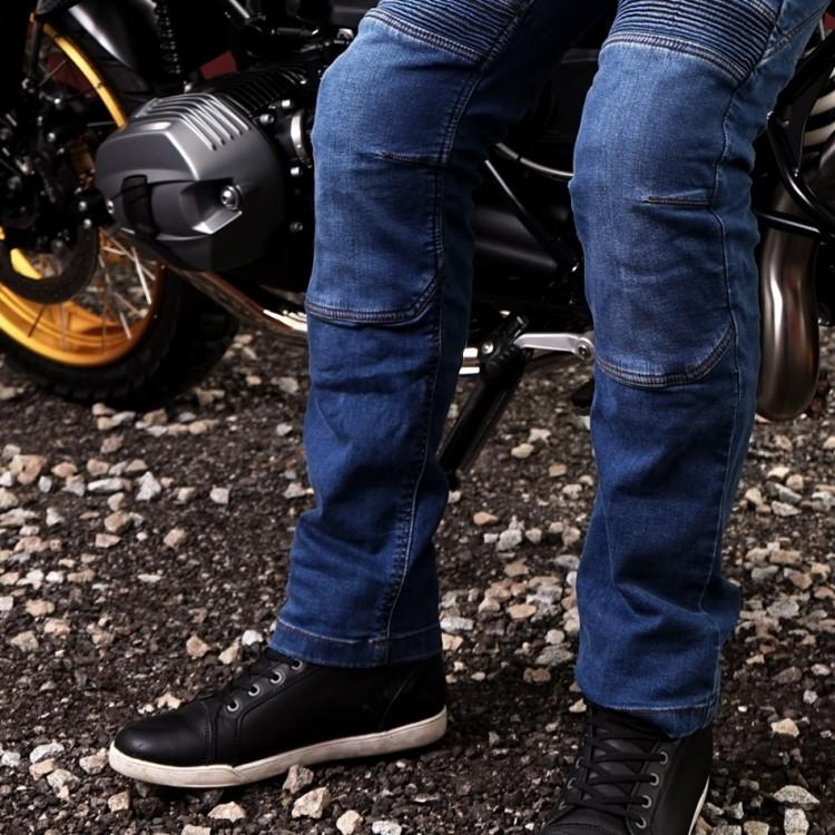 4SR motocyklové oblečení - kevlarové jeans s patentovaným systémem uchycení chráničů