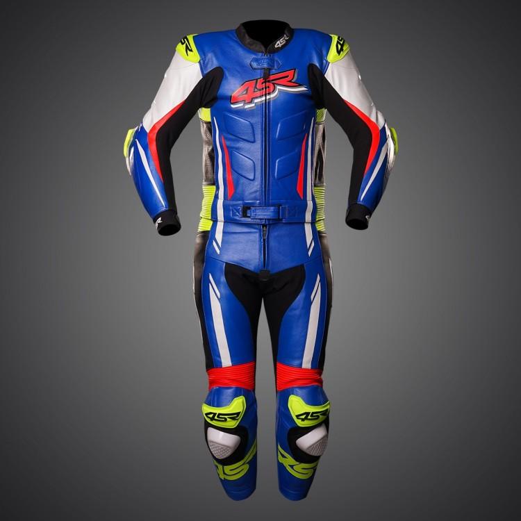 4SR motocyklové oblečení a doplňky - Dvoudílná kombinéza RR Evo III Cobalt Blue od 4SR